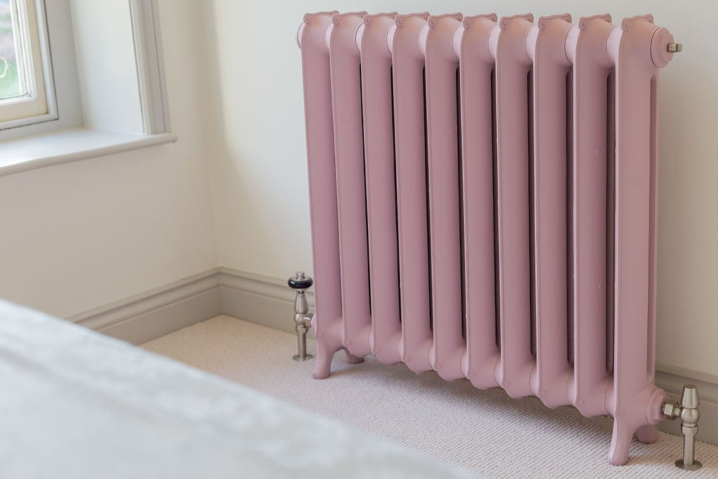 Pink Contemporary Cast Iron Radiator