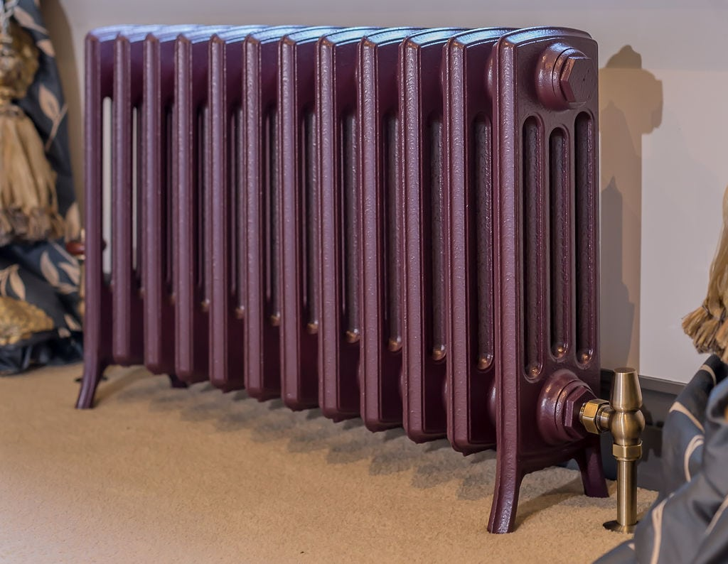 Brinjal Traditional Georgian Radiator Angle View